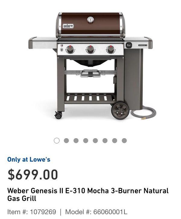 Weber Genesis Ii E 310 Mocha Natural Gas For Sale In Riverside Ca