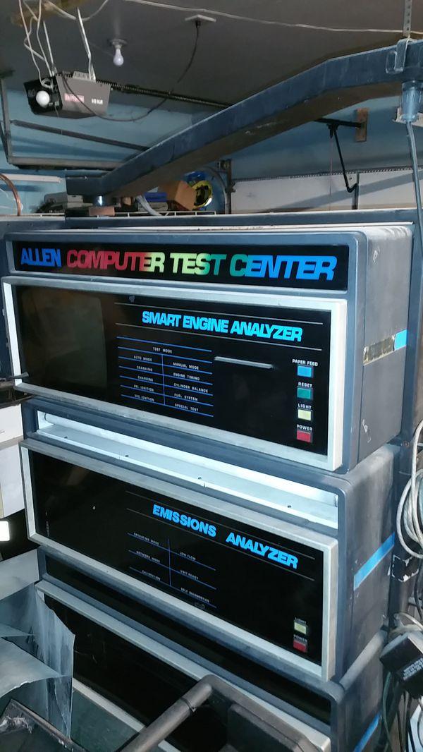 Allen Computer Test Center Smart Engine Analyzer Emissions Analyzer