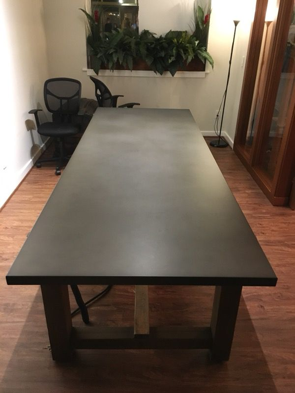Restoration Hardware Reclaimed Wood Zinc Top Rectangular Dining Table Furniture In Seattle Wa Offerup