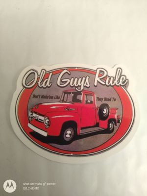 Photo NEW SMALL OLD GUYS RULE FORD TRUCK SPEED SHOP HOT ROD TOOLBOX STICKER