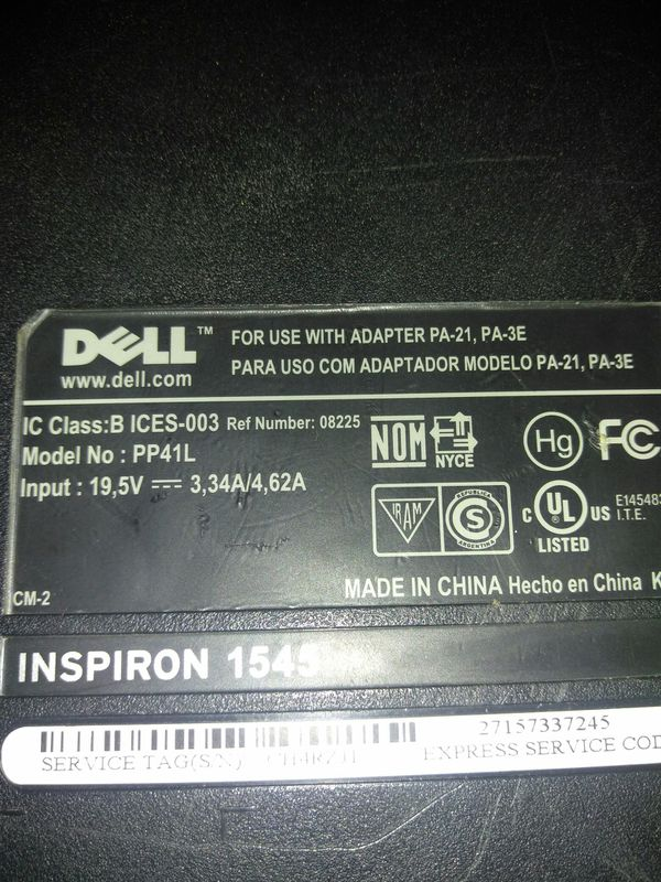 Laptop Dell Inspiron 1545 for Sale in Indianapolis, IN - OfferUp