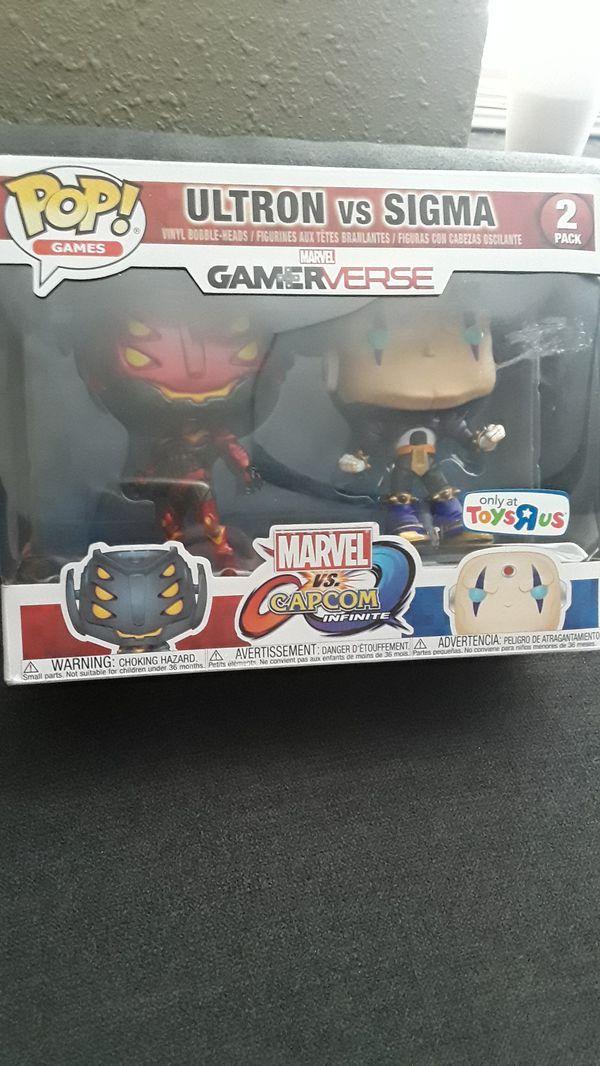 Ultron vs Sigma Capcom vs Marvel GamerVerse 2 Pack Funko Pop for Sale in  Grand Prairie, TX - OfferUp