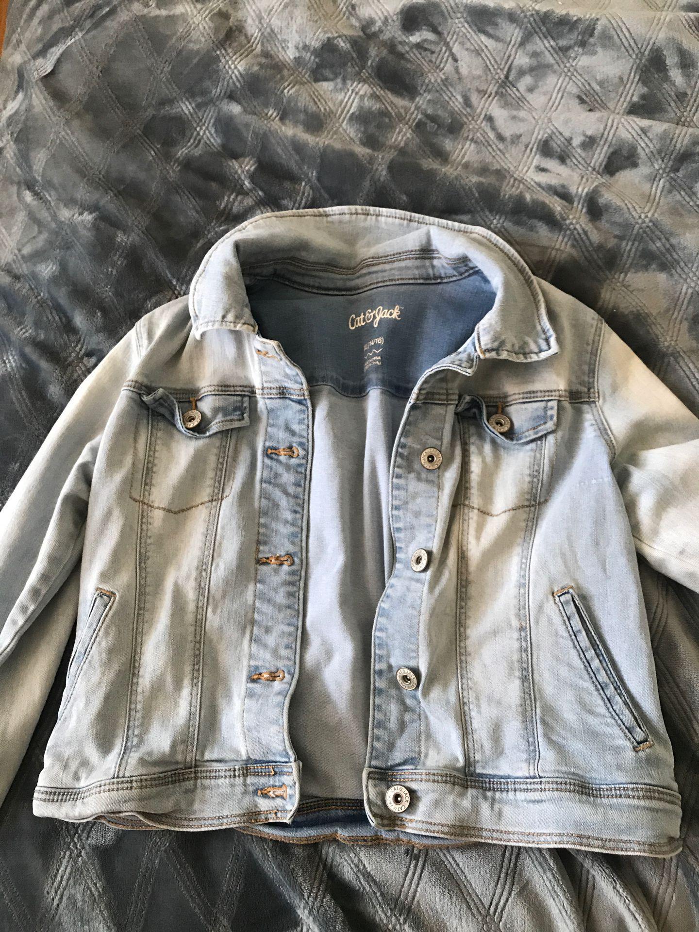 Cat & Jack girls jean jacket