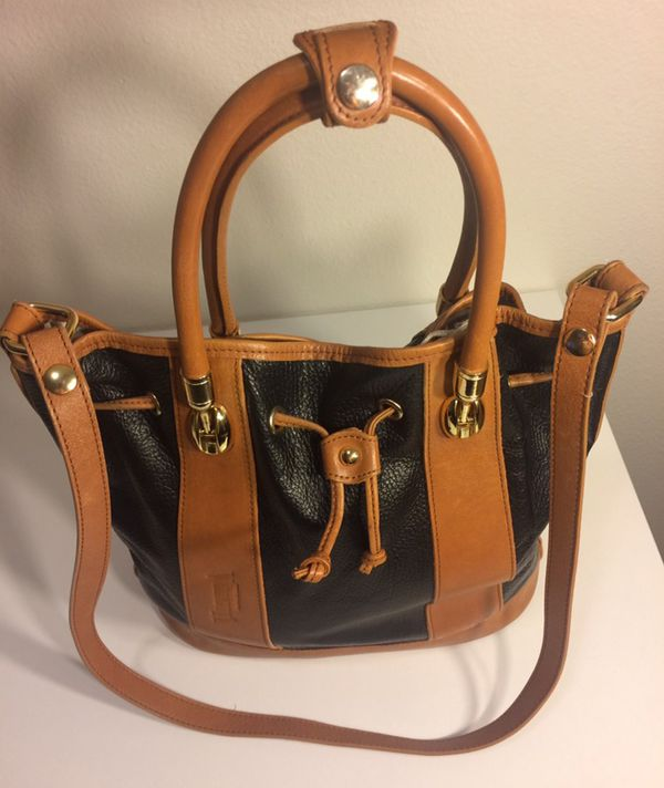 Genuine Valentina Black Leather Italian Bag For Sale In Boise Id