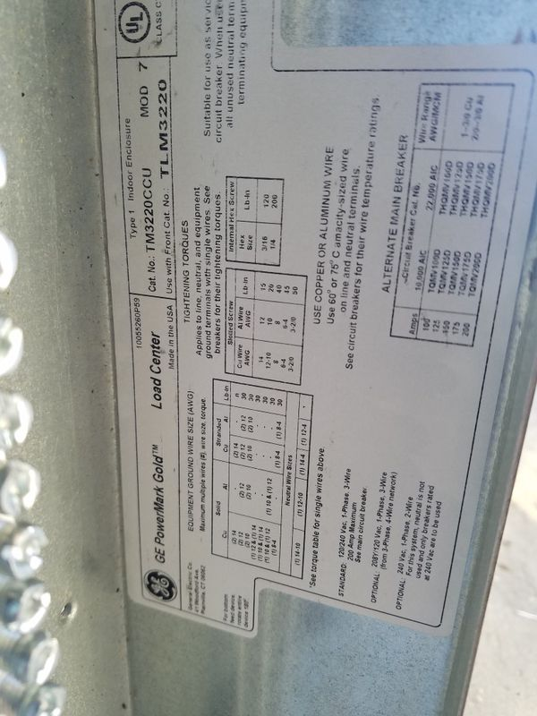GE 200 amp breaker box/panel for Sale in Orland Park, IL - OfferUp