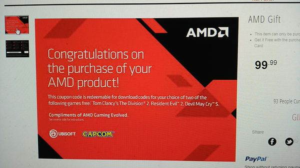 2 New PC games for $75 (AMD Rewards) for Sale in Cheney, WA - OfferUp