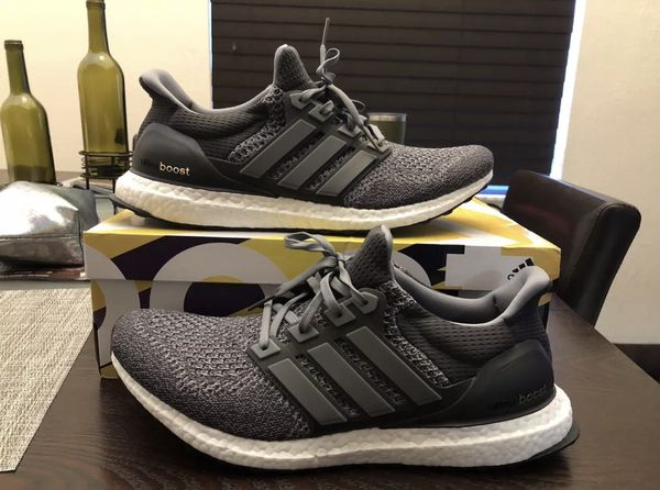 16ec47648 Men s ADIDAS Ultra Boost UltraBoost 1.0 LTD AQ5560 Mystery Grey   Running  White Size 12 Shoes Used w  Box