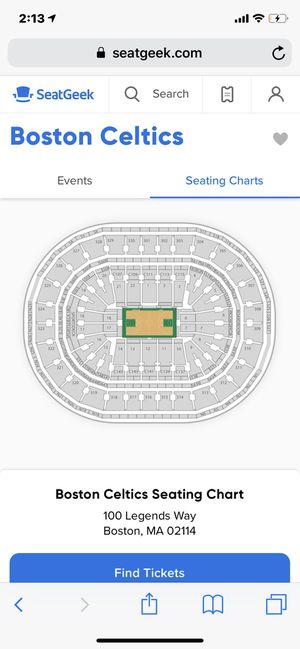 Boston Celtics Tickets for Sale in Boston, MA