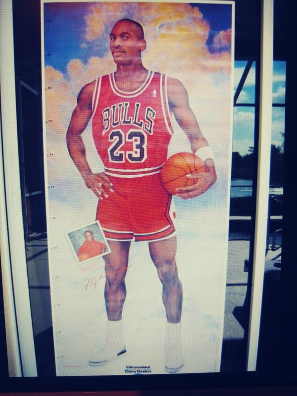 ae5051bb56a0b6 Life sized Michael Jordan - Chevy promotion poster NOT perfect. Read ...