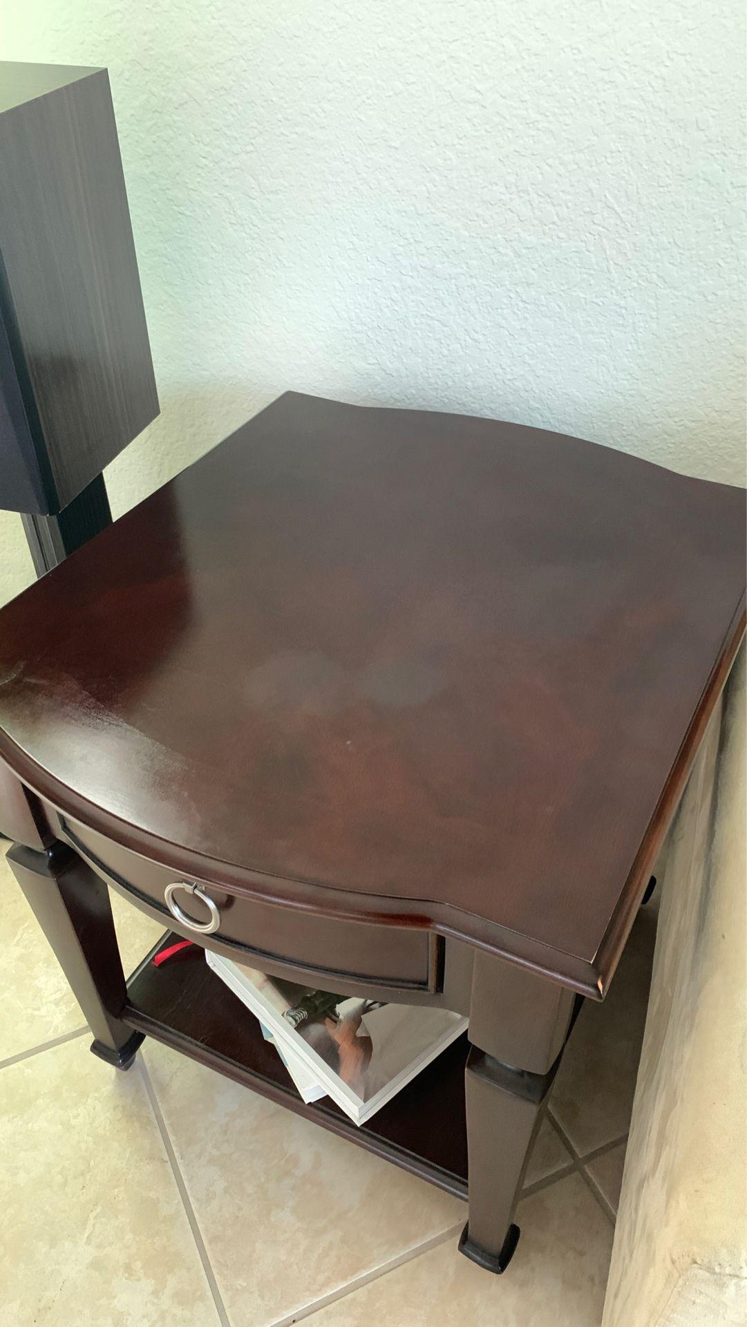 Dark Brown wooden side table