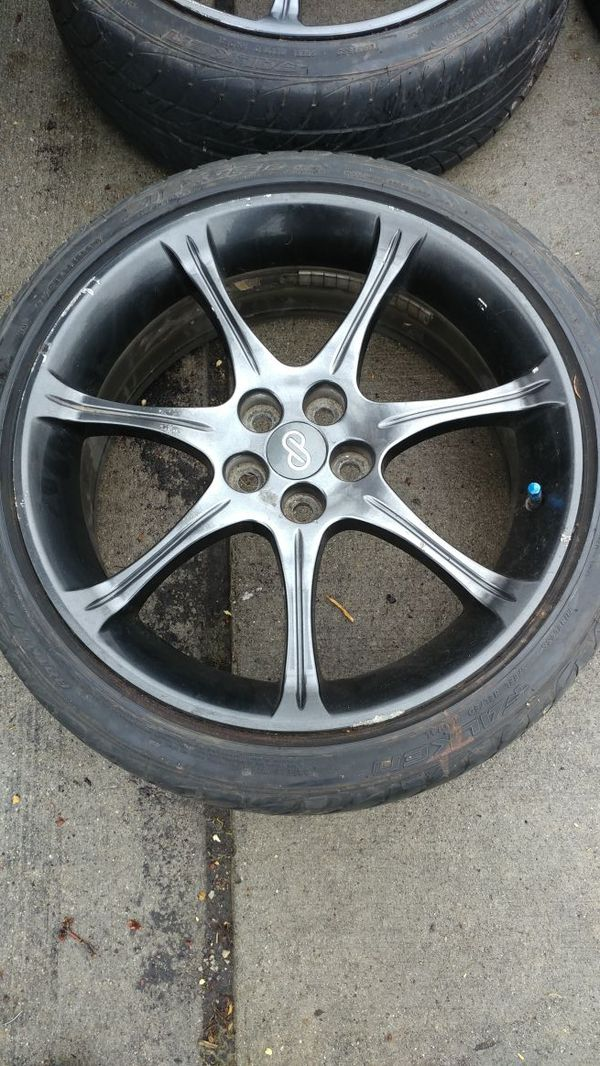 Enkei Super 7 18 inch Wheels with a 5x100 bolt pattern - Used on my ...