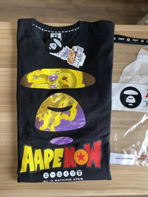Photo Aape by bathing ape x Dragon Ball Z size XXL brand new with original plastic. Golden frieza aape by bape tee never worn brand new