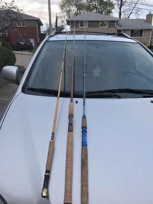 3 8 feet trout fishing rods for Sale in Pittsburgh, PA