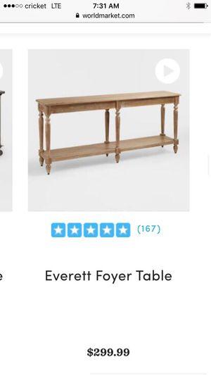 Foyer table for Sale in Hartville, OH