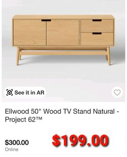 "50"" Wood TV Stand Thumbnail"