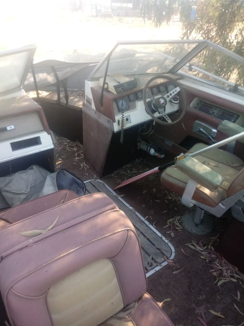 In pretty good shape it just needs upholstery