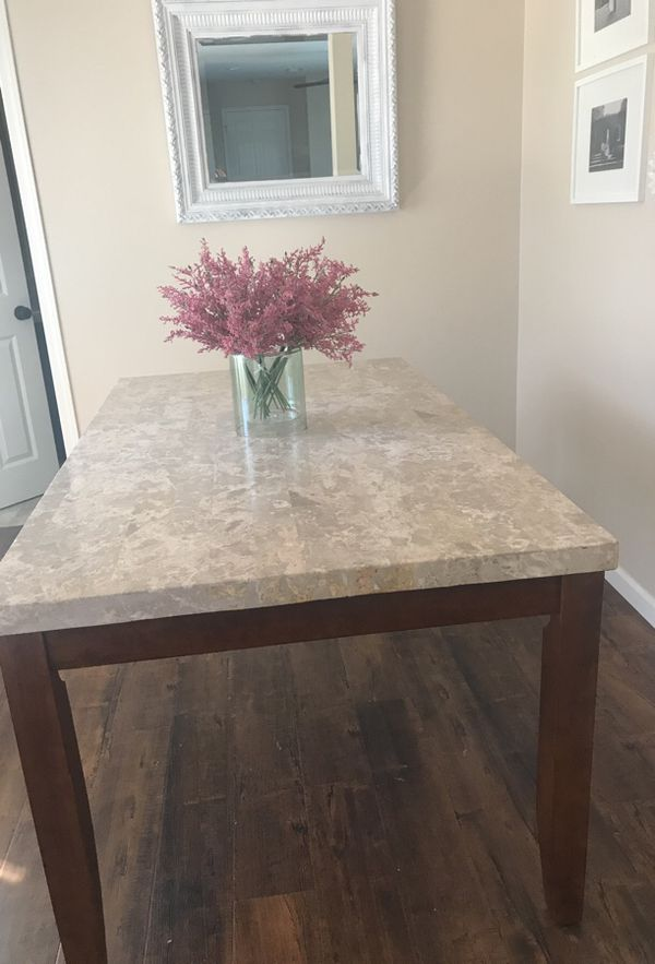 Beautiful Dining Table Solid Wood And Marble Top Furniture In El Cajon Ca Offerup