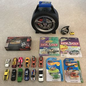 Hotwheels car lot, johnny lightning cars (opened), car case, remote control watch car for Sale in Silver Spring, MD