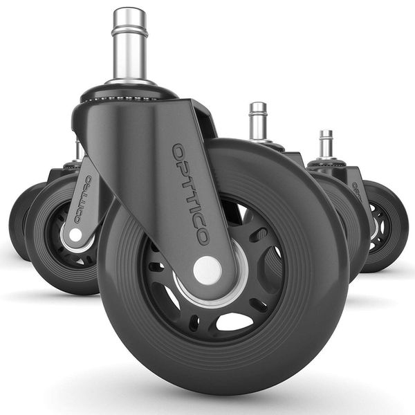 Office Chair Caster Wheels Set Of 5 For Sale In