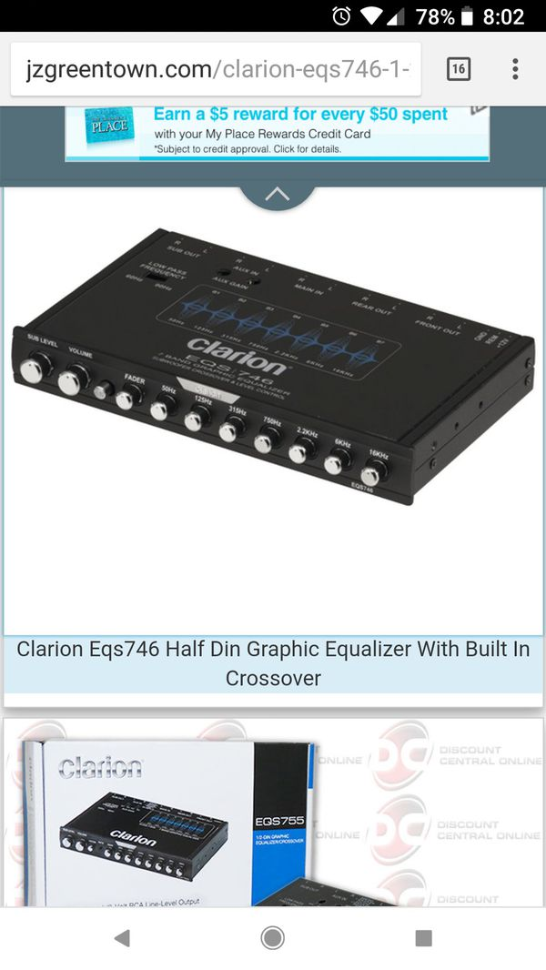 Clarion eqs746 new for Sale in Queens, NY - OfferUp