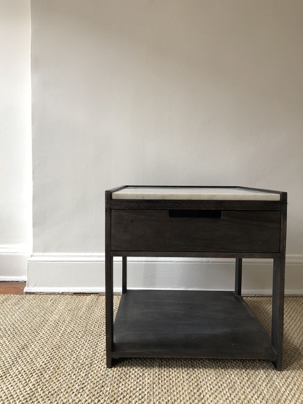CB Tux Marble Top Nightstand Side Table For Sale In Brooklyn NY - Cb2 tux coffee table