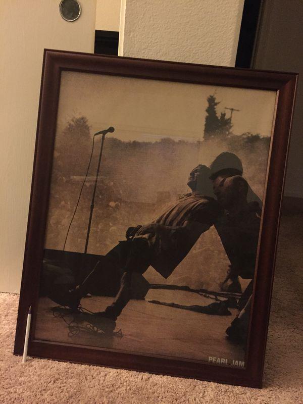 Wooden Poster Frame Pearl Jam Poster For Sale In Las Vegas Nv
