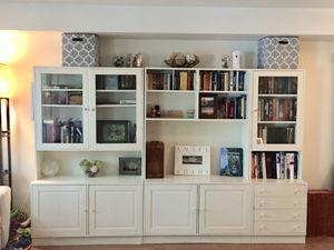 IKEA Entertainment Center / Wall Unit- white for Sale in Alexandria, VA