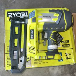 RYOBI ONE+ 18V Cordless AirStrike 16-Gauge 2-1/2 in. Straight Finish Nailer (Tool Only) with Sample Nails Thumbnail