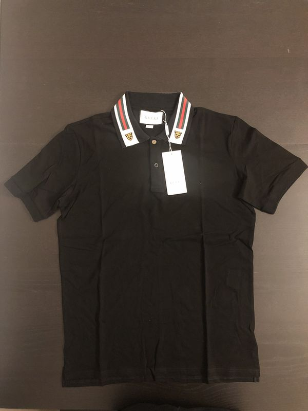 1035d551a Gucci Cotton polo with Web and feline head size L, M, S for Sale in ...