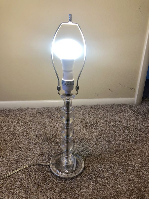 New Pottery Barn Acrylic Clear Lamp For Sale In