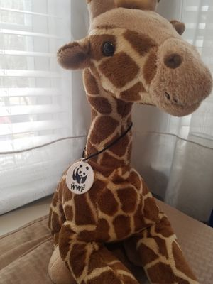 "18"" giraffe with WWF tag - Build a Bear - like new for Sale in Buford, GA"