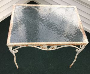 Ornate Cast Iron/Glass End Table for Sale in Dayton, MD