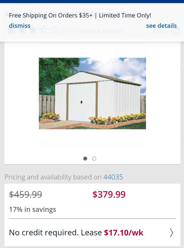 Framing A 10x10 Room: 10x10 Arrow Steel Shed Brand New For Sale In Elyria, OH