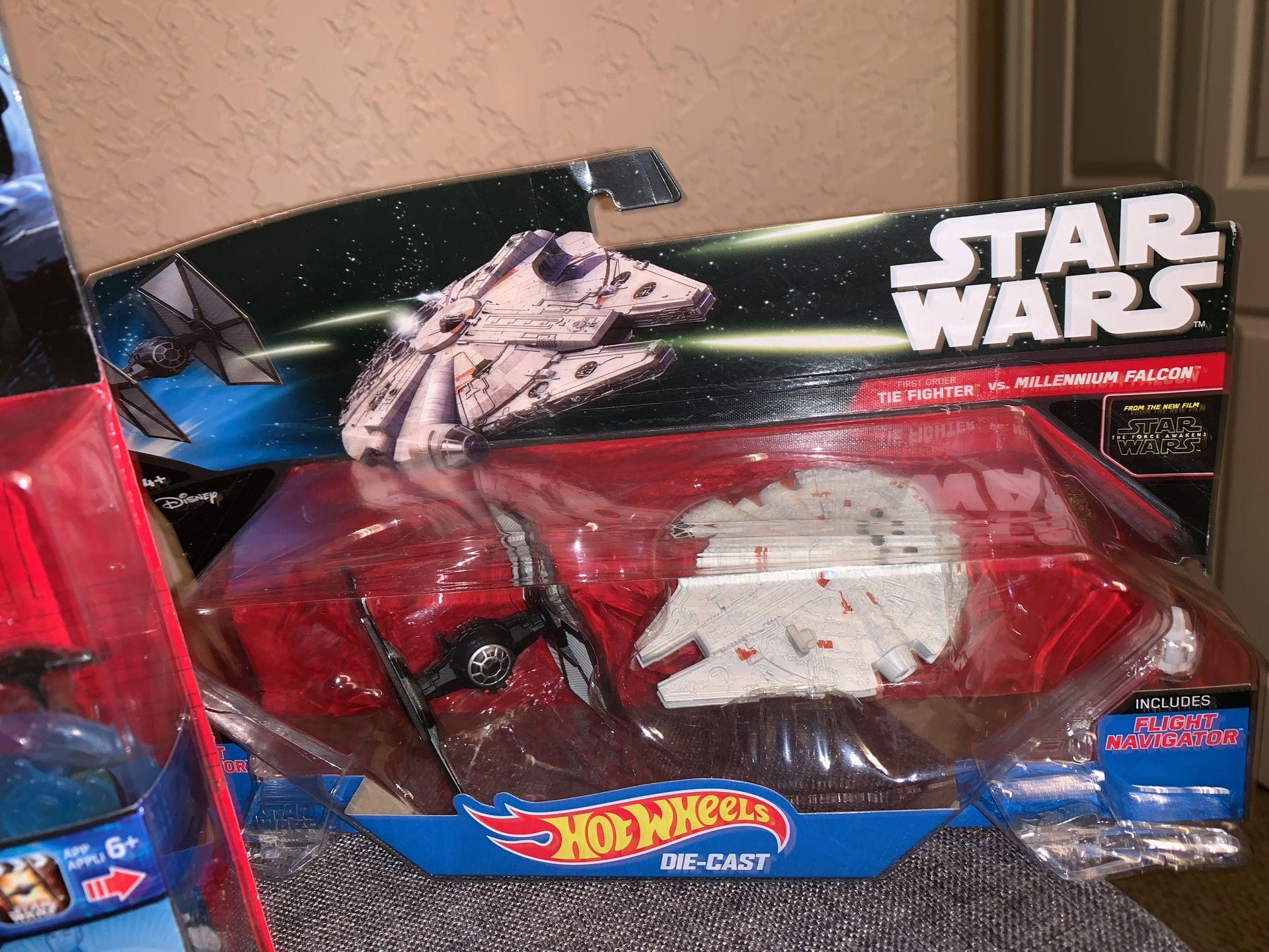 Boys toys; John Deer, Star Wars, Hot wheels