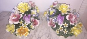 Capodimonte porcelain flowers sets for Sale in Baltimore, MD