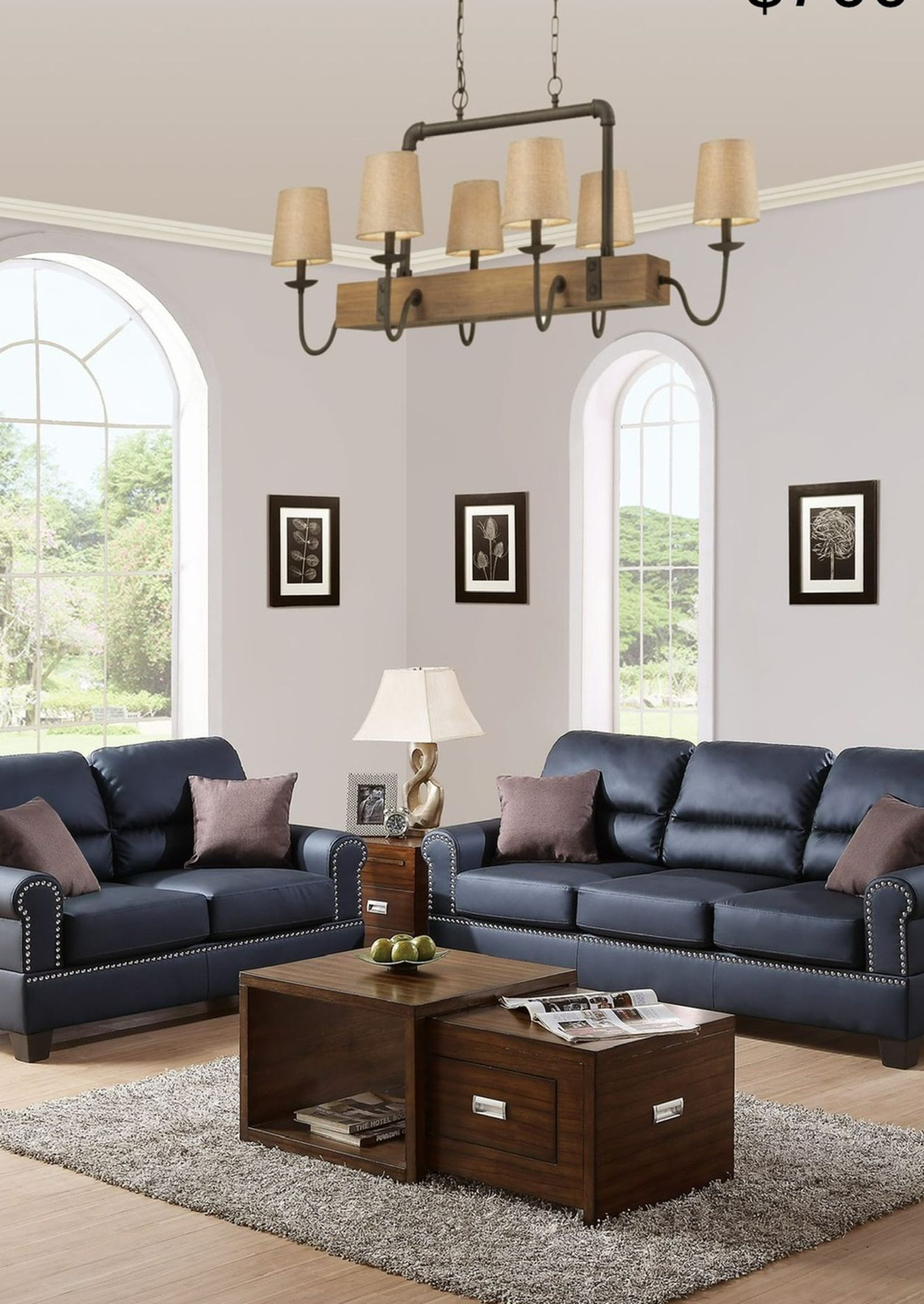New Leather Couch And Love Seat Set / Free Delivery