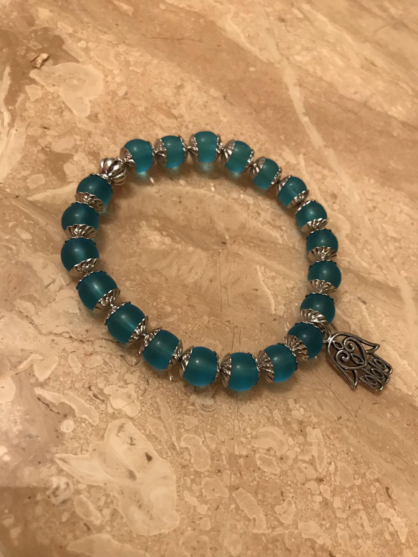 Handmade glass beads bracelet