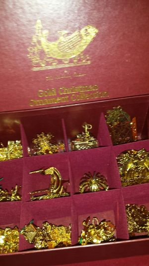 23kt Gold Plated Christmas Ornament Collection 90-96 for Sale in Fairfax, VA