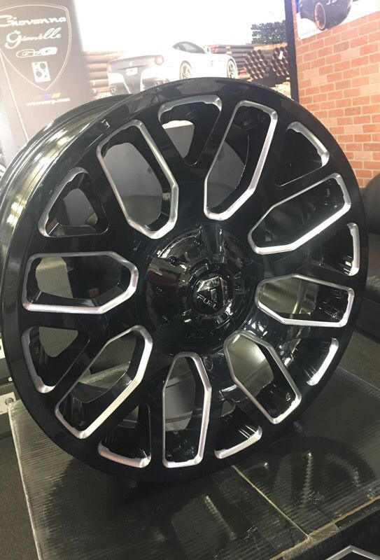 Fuel Wheels 20x9 >> 4 20x9 Fuel Warrior Gloss Black With Milled Wheels Only For Sale In