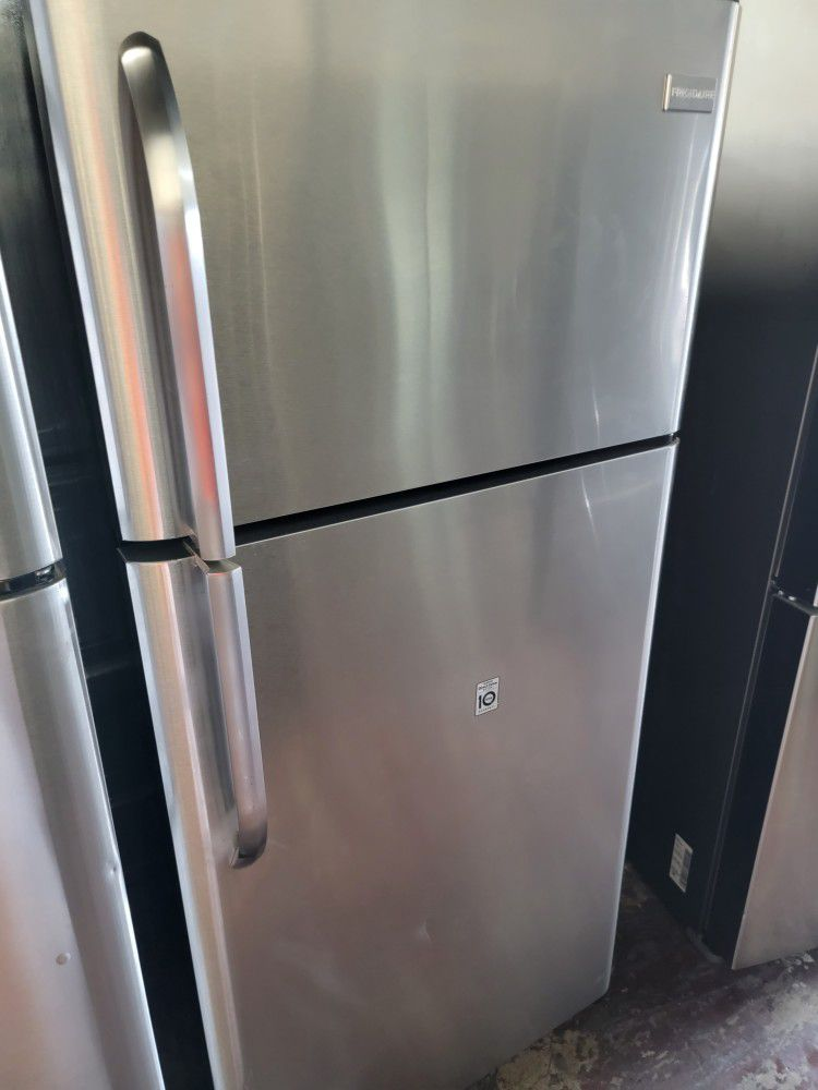 Frigidaire Refrigerator Top And Bottom Stainless