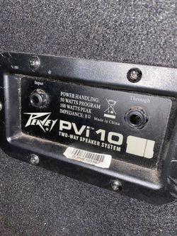 Peavey PVi10 2 way speaker system Thumbnail