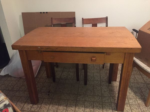 Antique Solid Wood Desk Or Table
