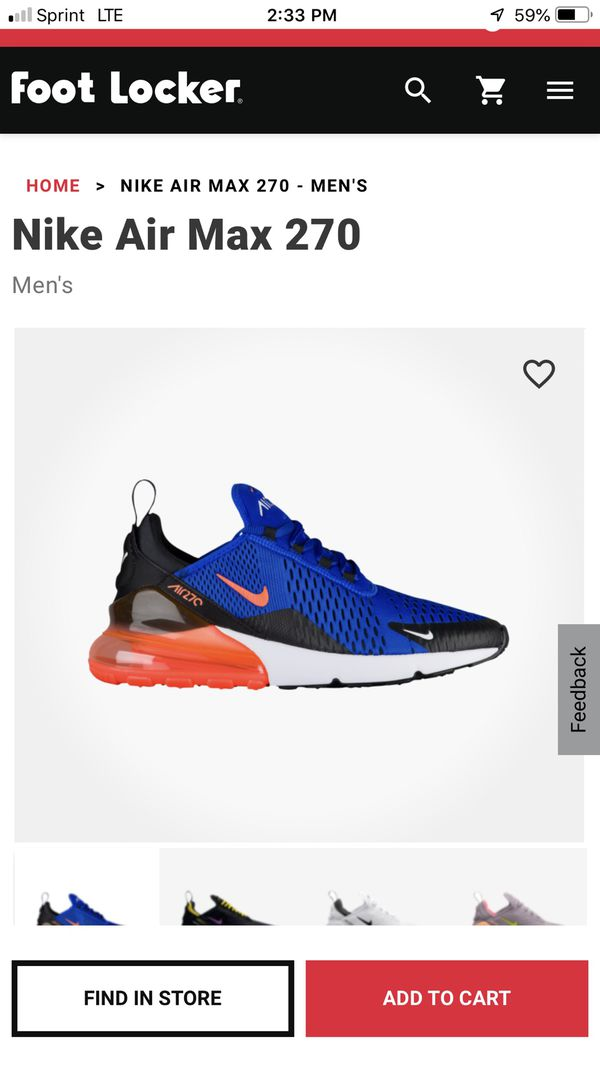 Nike Air Max 270 size 10 for Sale in Long Beach, CA OfferUp