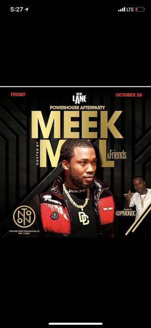 Meek Mill Live Halloween 🎃 After Party for Sale in Philadelphia, PA