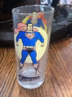 1976 Superman Glass  Thumbnail