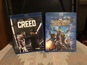Blu-Ray movies Creed and Guardians of the Galaxy for Sale in Denver, CO