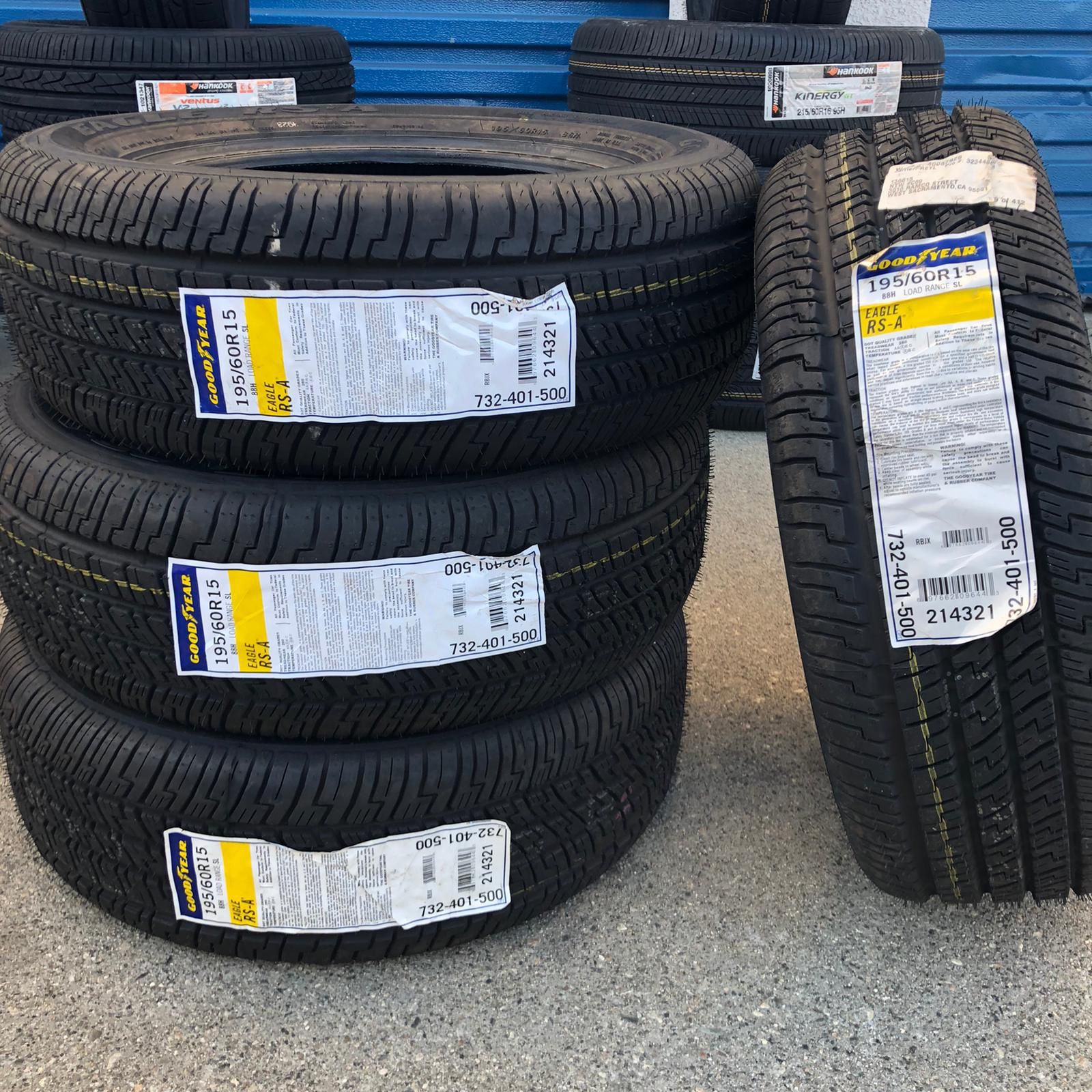 195/60/15 Goodyear Eagle Tires New $240