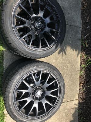 Staggered 17 in rims for Sale in Rockville, MD