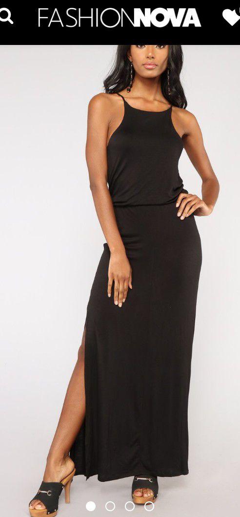 4cf9068345ef3 Fashion Nova black Maxi Dress NEW SMALL for Sale in Montebello, CA ...