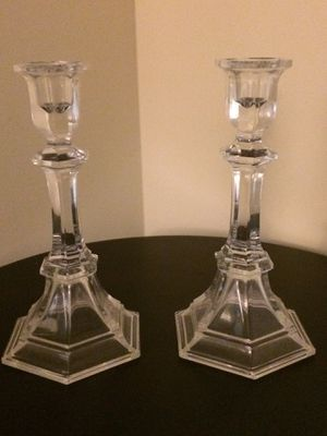 Pairs of Crystal Candle Holder for Sale in Herndon, VA